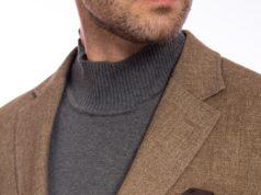 Sacoul bej inchis de lana
