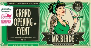 Deschiderea oficiala a Mr. Blade Barber Shop Sala Palatului